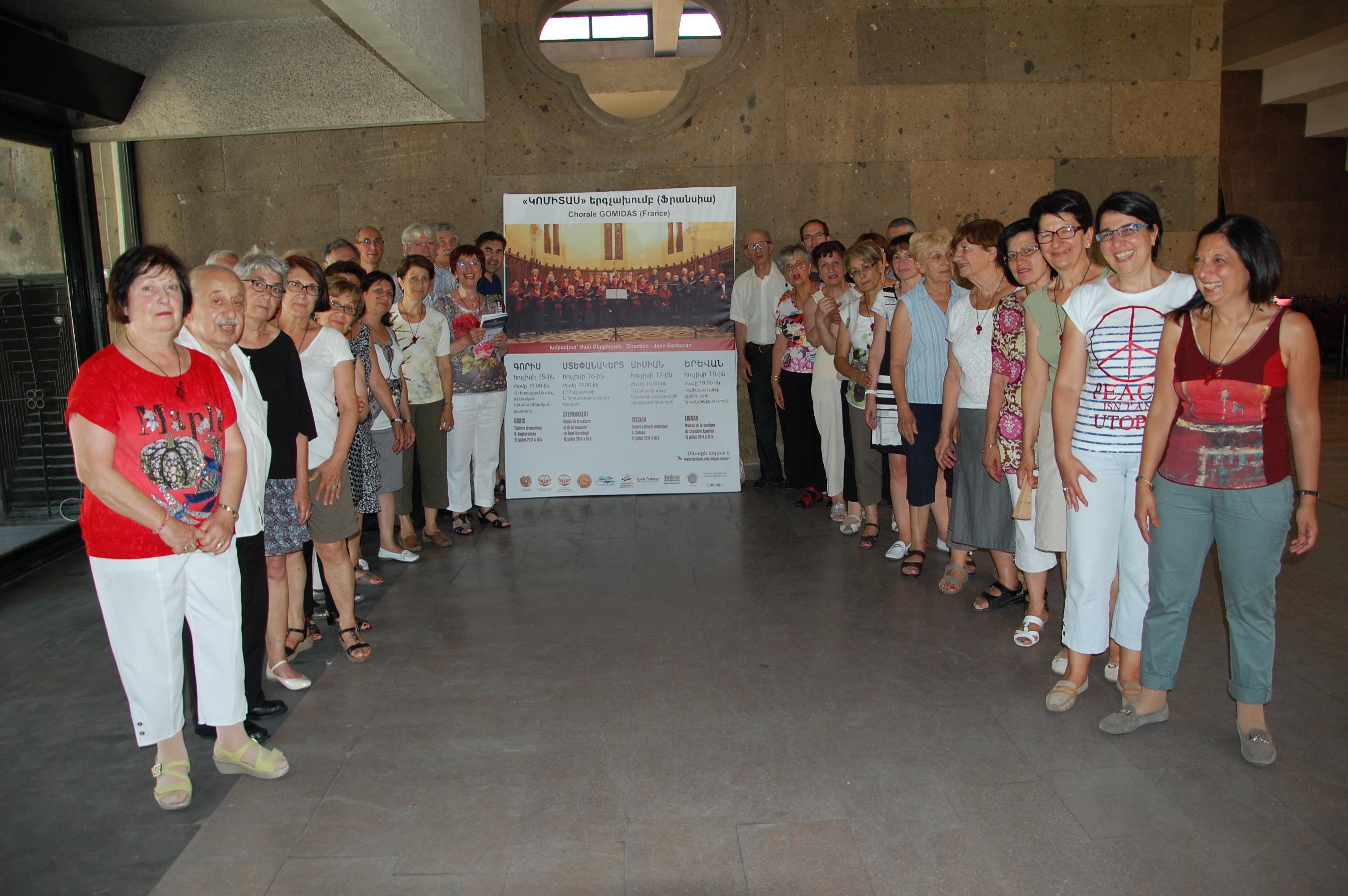 Concerts en Arménie juillet 2014