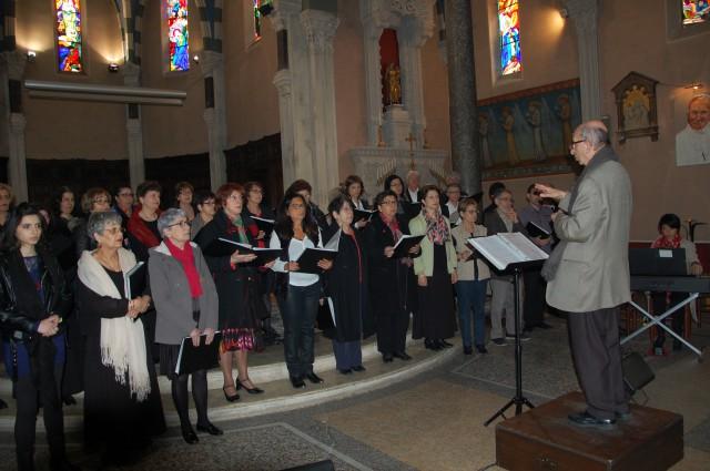 Répétition pour le concert en l'église Notre Dame à Valence le 29 mars 2015