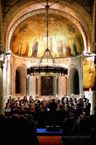 Concert en l'abbaye d'Ainay à Lyon le 3 décembre 2017, vue du public