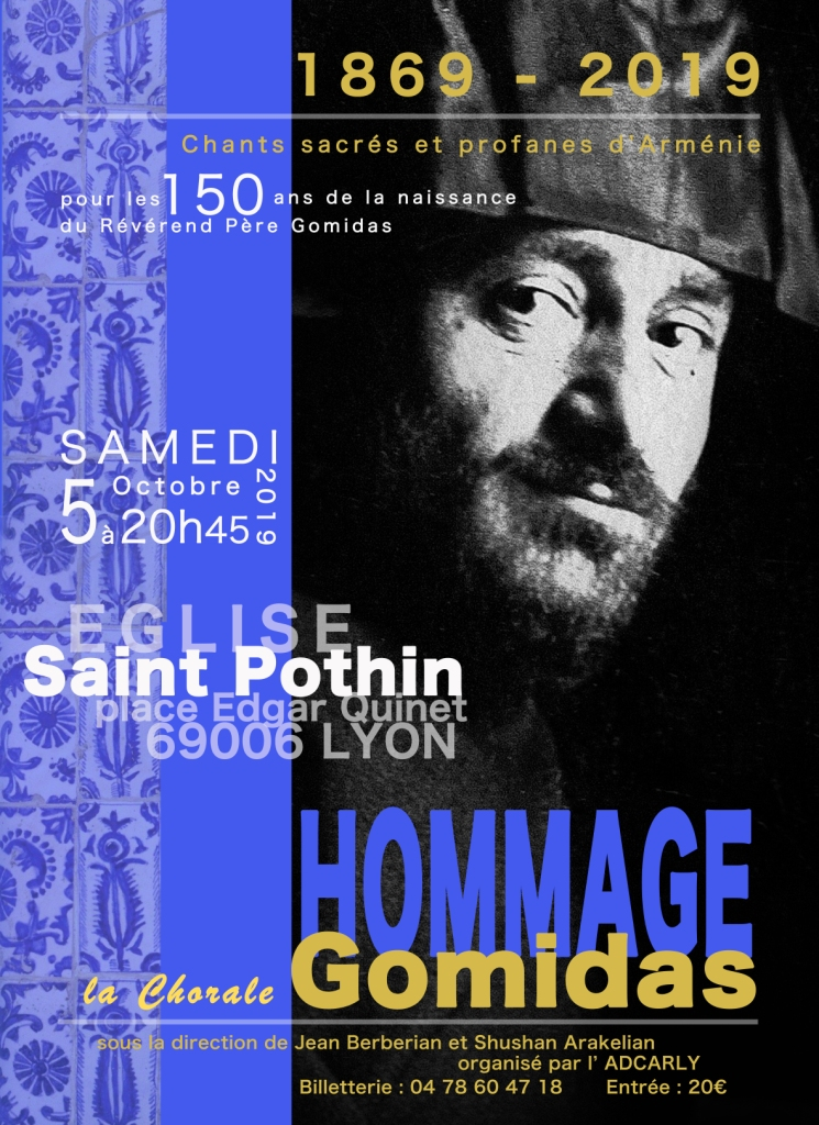 Concert samedi 5 octobre 2019 à 20 h 45 - Eglise St Pothin à Lyon
